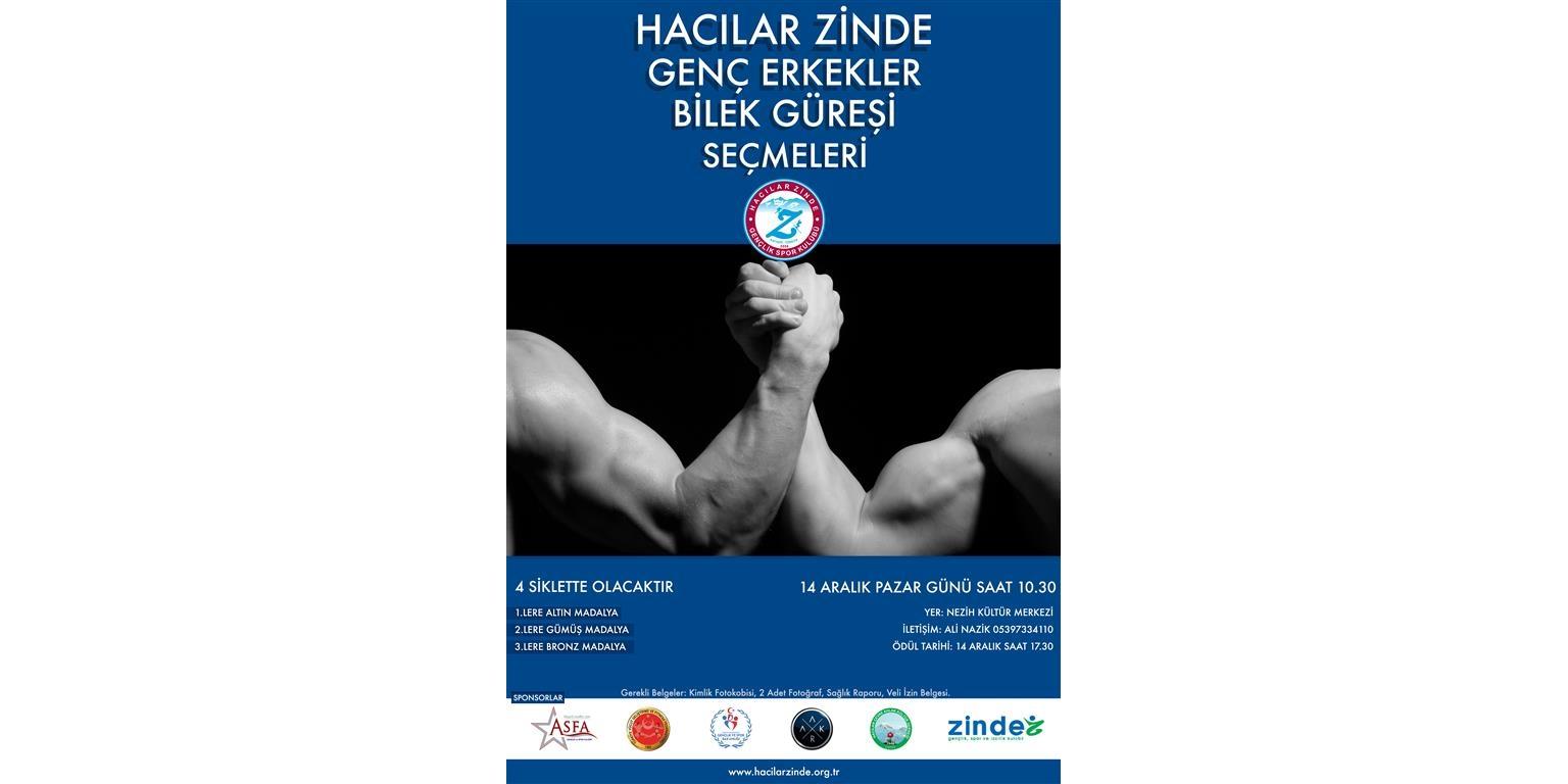 """Kayseri Hacılar Zinde Gençlik, """"Genç Erkekler Bilek Güreşi Yarışması"""" Düzenliyor"""