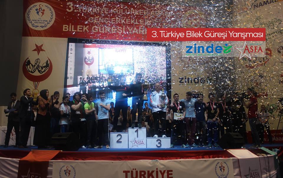 Zinde Gençlik ve ASFA'nın Düzenlediği 3. Türkiye Bilek Güreşi Yarışması Tamamlandı
