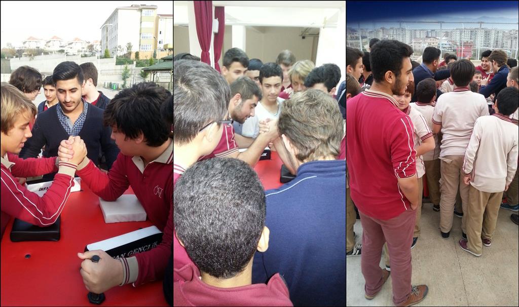 Bursa İrfan Gençlik, Nurettin Topçu Anadolu İmam Hatip Lisesi'nde  Bilek Güreşini Tanıttı