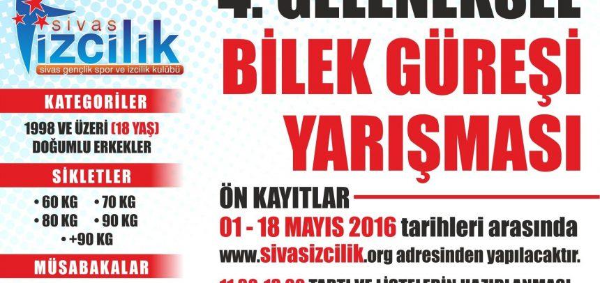 Sivas Gençlik, 4. Geleneksel Bilek Güreşi Yarışması Düzenliyor