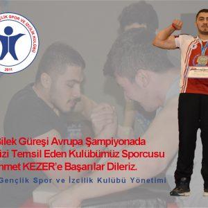 Samsun Yıldız Gençlik Bilek Güreşi Milli Sporcusu, Romanya'daki Avrupa Yarışması'na Gidiyor