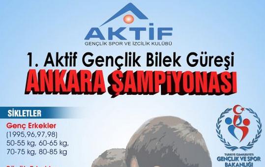 1. Aktif Gençlik Kulübü Bilek Güreşi Ankara Şampiyonası