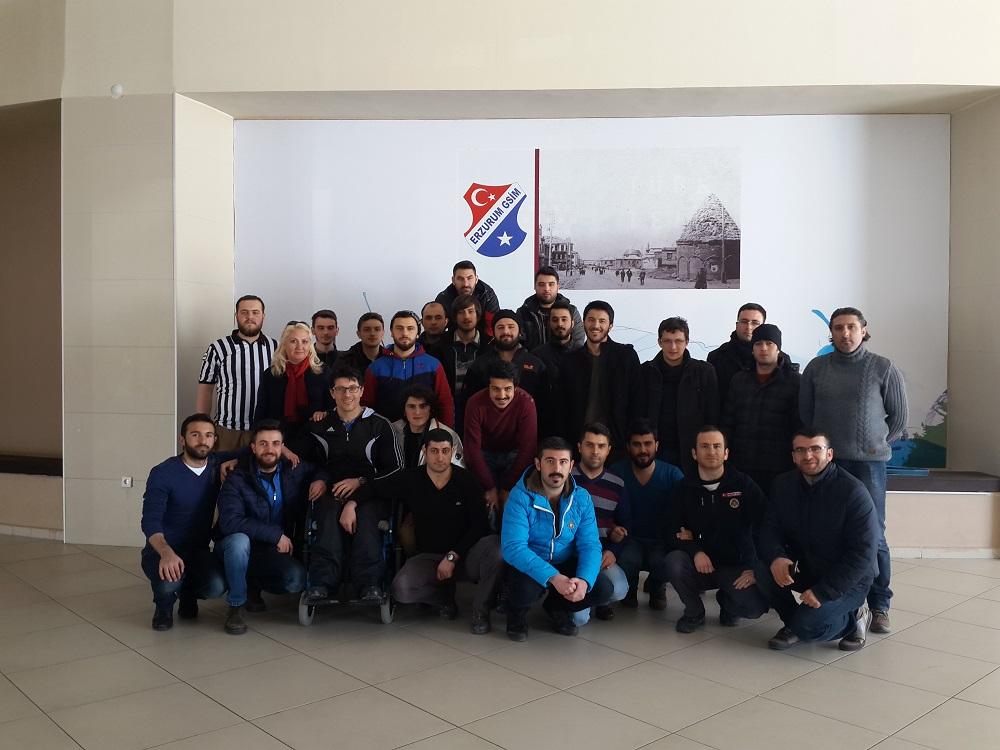 Erzurum Kotku Gençlik, Bilek Güreşi Aday Hakemlik Kursunu Tamamladı