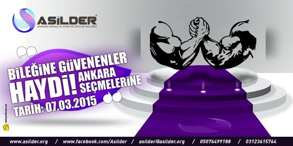Asilder'den Ankara Bilek Güreşi Yarışmasına Davet