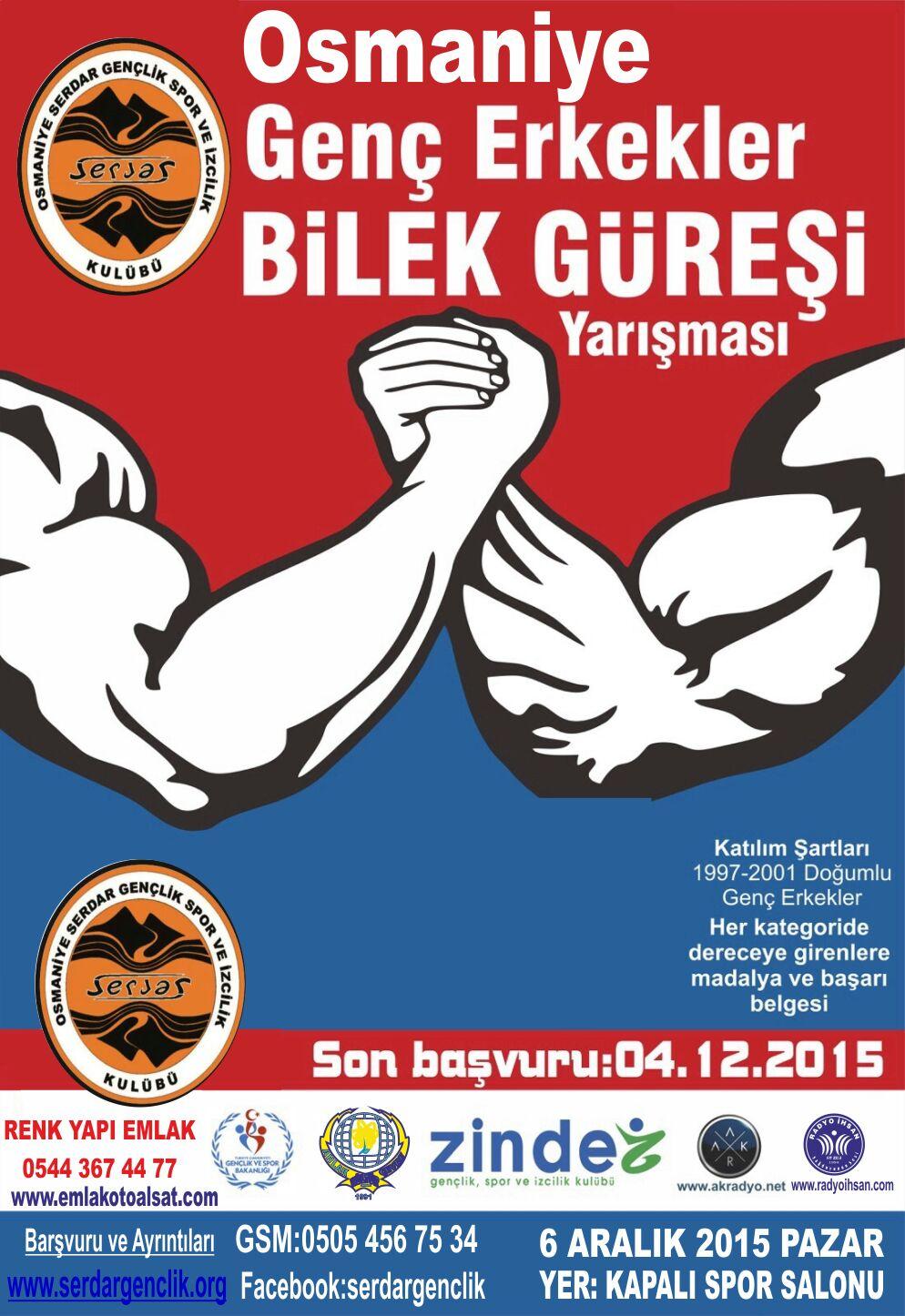 Serdar Gençlik, Osmaniye Bilek Güreşi Yarışması Düzenliyor