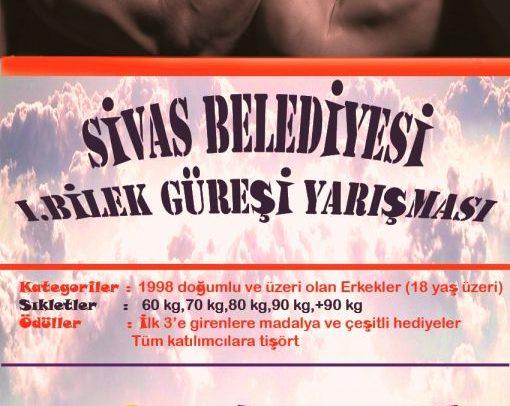 Sivas Gençlik, Sivas Belediyesi ile Bilek Güreşi Yarışması Düzenliyor