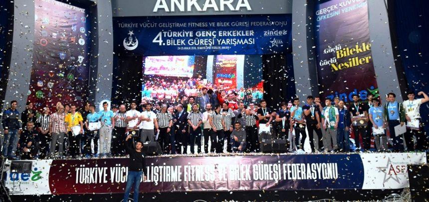 4. Türkiye Genç Erkekler Bilek Güreşi Yarışması Büyük Bir Coşkuyla Tamamlandı!
