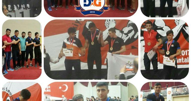 Akdeniz Dimanik Gençlik, Türkiye Bilek Güreşi Yarışmasında 2 Birincilik, 1 İkincilik, 2 Üçüncülük Kazandı