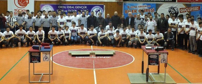 İdeal Gençlik, Ordu 5. Genç Erkekler Bilek Güreşi Yarışması Düzenledi