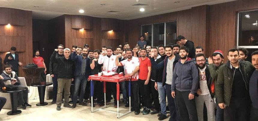 Ankara ASİLDER, Gölbaşı Yüksek Öğrenim Yurdu'nda Bilek Güreşini Tanıttı