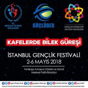 """""""Kafelerde Bilek Güreşi"""" Projesi, İstanbul Gençlik Festivali'nde"""